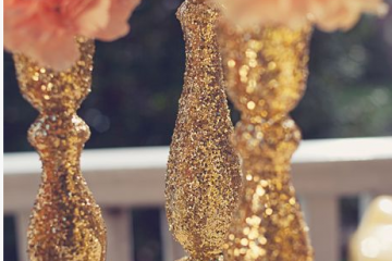 DIY These Gorgeous Glitter Candlesticks