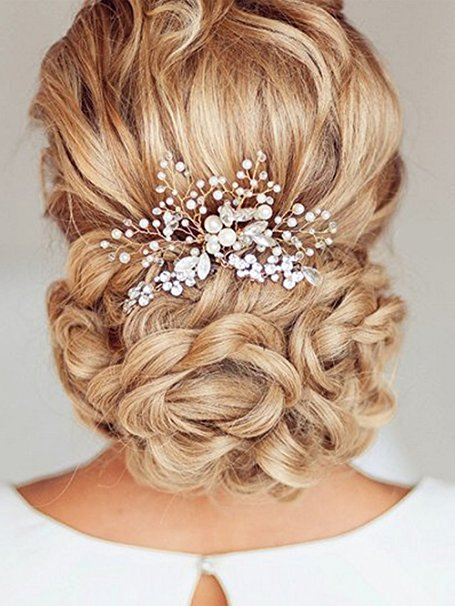 one gorgeous alternative to a traditional wedding veil is an updo with a hair comb