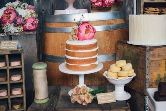 Wedding Trend The Naked Cake