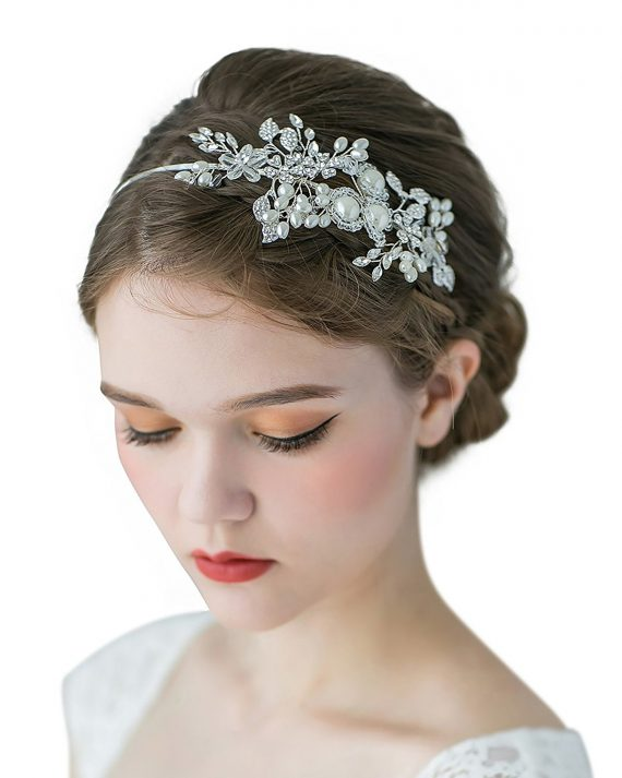This beautiful headband looks amazing with a soft updo!