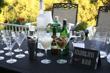 DIY Martini Wedding Reception Bar - Wedding for 1000