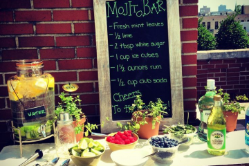DIY Mojito Bar Wedding Reception