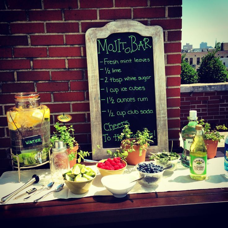 Build Your Own Exotic Mojito Bar