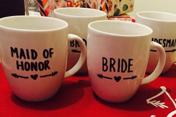 DIY mugs for your bridesmaids weddingfor1000.com
