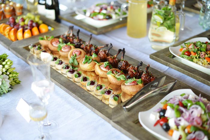 begin your caterer search at the same time youre looking at venues
