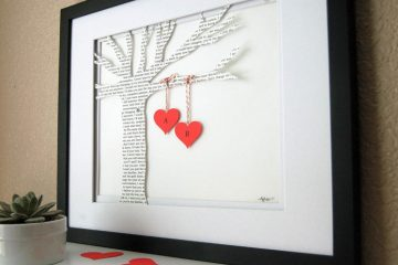 Love Words - a DIY Wedding Anniversary Gift