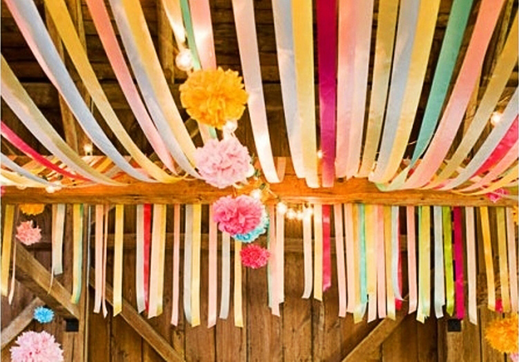 Fancy Decorating With Ribbon Check Out Flagging Tape