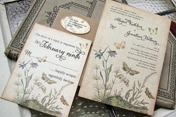 Find lovely vintage wedding stationery and other ideas - weddingfor1000.com