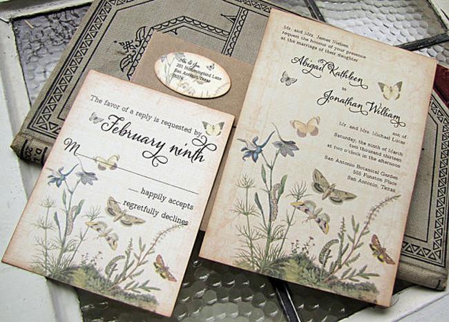 Vintage Wedding Stationery Ideas - Wedding for USD1000