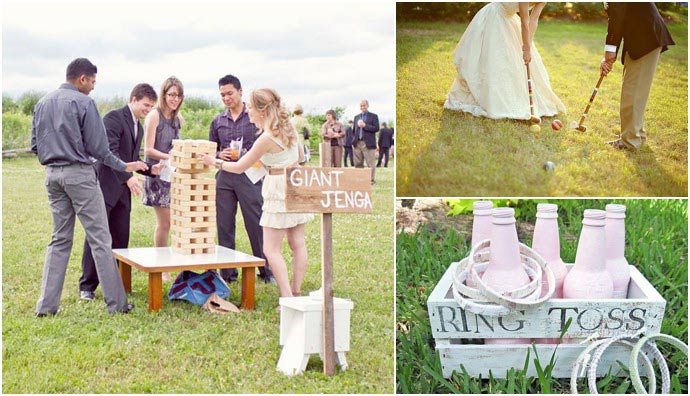 So many ways to entertain wedding guests on your big day! weddingfor1000.com