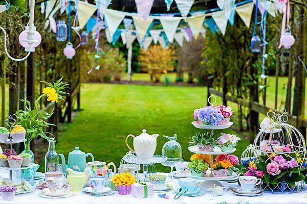 Have A Posh English Tea Party Wedding Reception