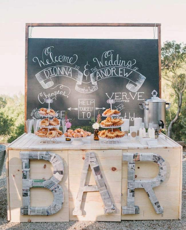 Amazingly Affordable DIY Bars For Your Wedding