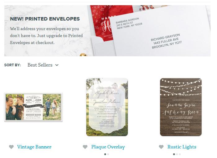 Online-Only Wedding Invitation Round-Up - weddingfor1000.com